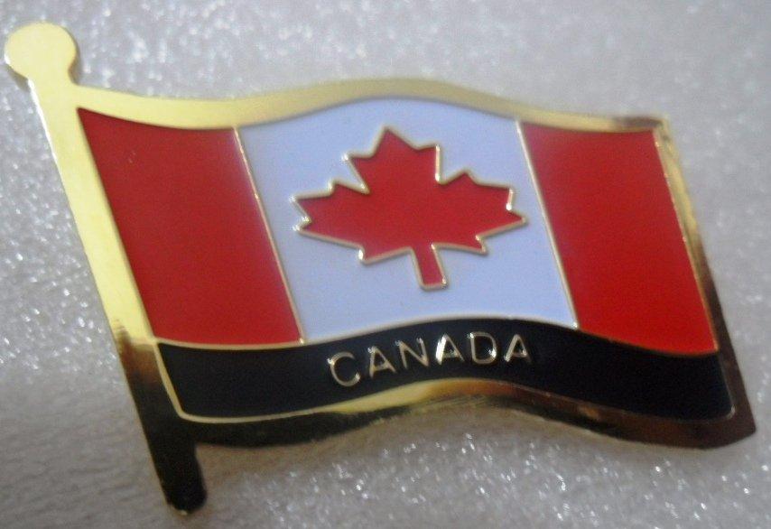 Canada Metal Brass Alloy Lapel Pin Country Flag Logo Soft Enamel Emblem Badge Button