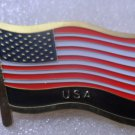 USA Metal Brass Alloy Lapel Pin Country Flag Logo Soft Enamel Emblem Badge Button