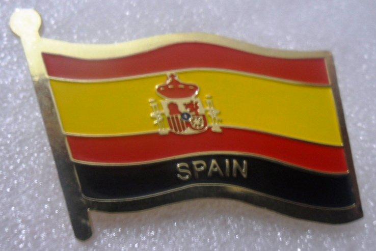 SPAIN Metal Brass Alloy Lapel Pin Country Flag Logo Soft Enamel Emblem Badge Button