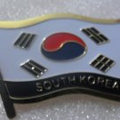 SOUTH KOREA Metal Brass Alloy Lapel Pin Country Flag Logo Soft Enamel Emblem Badge Button