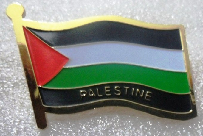 PALESTINE Metal Brass Alloy Lapel Pin Country Flag Logo Soft Enamel Emblem Badge Button