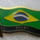 BRAZIL Metal Brass Alloy Lapel Pin Country Flag Logo Soft Enamel Emblem Badge Button