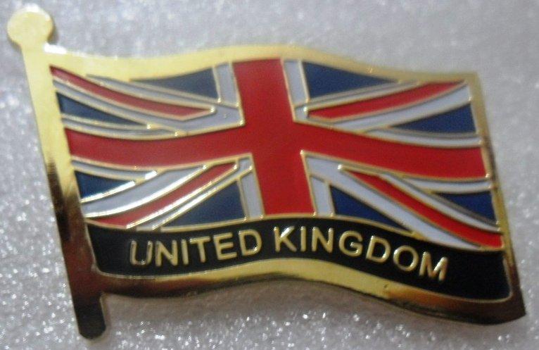 UNITED KINGDOM UK Metal Brass Alloy Lapel Pin Country Flag Logo Soft Enamel Emblem Badge Button