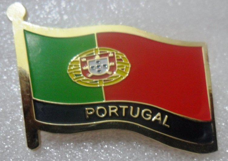 PORTUGAL Metal Brass Alloy Lapel Pin Country Flag Logo Soft Enamel Emblem Badge Button