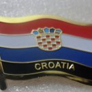 CROATIA Metal Brass Alloy Lapel Pin Country Flag Logo Soft Enamel Emblem Badge Button