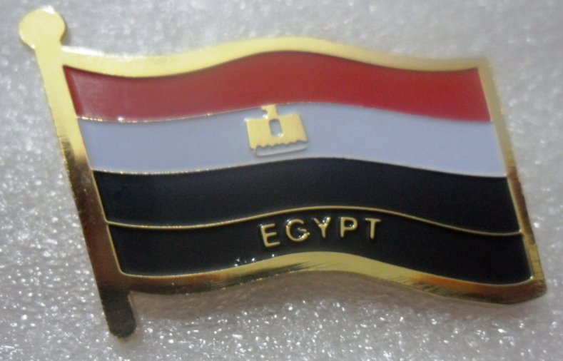 EGYPT Metal Brass Alloy Lapel Pin Country Flag Logo Soft Enamel Emblem Badge Button