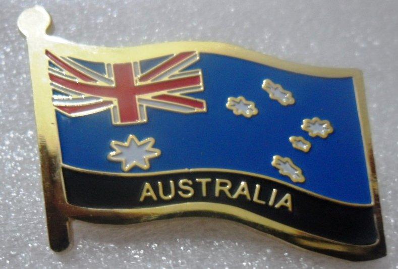 AUSTRALIA Metal Brass Alloy Lapel Pin Country Flag Logo Soft Enamel Emblem Badge Button