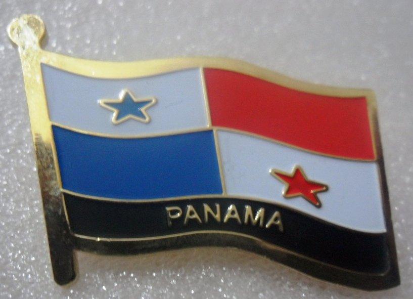 PANAMA Metal Brass Alloy Lapel Pin Country Flag Logo Soft Enamel Emblem Badge Button
