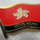 HOMG KONG Metal Brass Alloy Lapel Pin Country Flag Logo Soft Enamel Emblem Badge Button