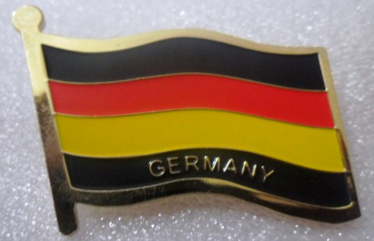 GERMANY Metal Brass Alloy Lapel Pin Country Flag Logo Soft Enamel Emblem Badge Button