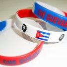 Che Guevara Military Cuba Flag Biker Rebel Silicone Bracelet Multi Color Sport Rubber Wristband