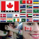 2 Temporary Skin Canada Country Flag Tattoo Sticker Party Favors Tattoos Stickers