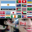 2 Temporary Skin Argentina Country Flag Tattoo Sticker Party Favors Tattoos Stickers
