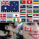 2 Temporary Skin Australia Country Flag Tattoo Sticker Party Favors Tattoos Stickers