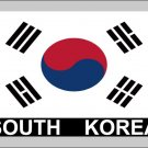 2 Temporary Skin South Korea Country Flag Tattoo Sticker Party Favors Tattoos Stickers