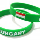 Hungary Country Flag Silicone Rubber Bracelet Sport Unisex Fashion Multi Color Wristband