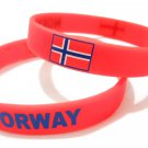 Norway Country Flag Silicone Rubber Bracelet Sport Unisex Fashion Multi Color Wristband