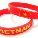 Vietnam Country Flag Silicone Rubber Bracelet Sport Unisex Fashion Multi Color Wristband