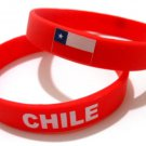Chile Country Flag Silicone Rubber Bracelet Sport Unisex Fashion Multi Color Wristband