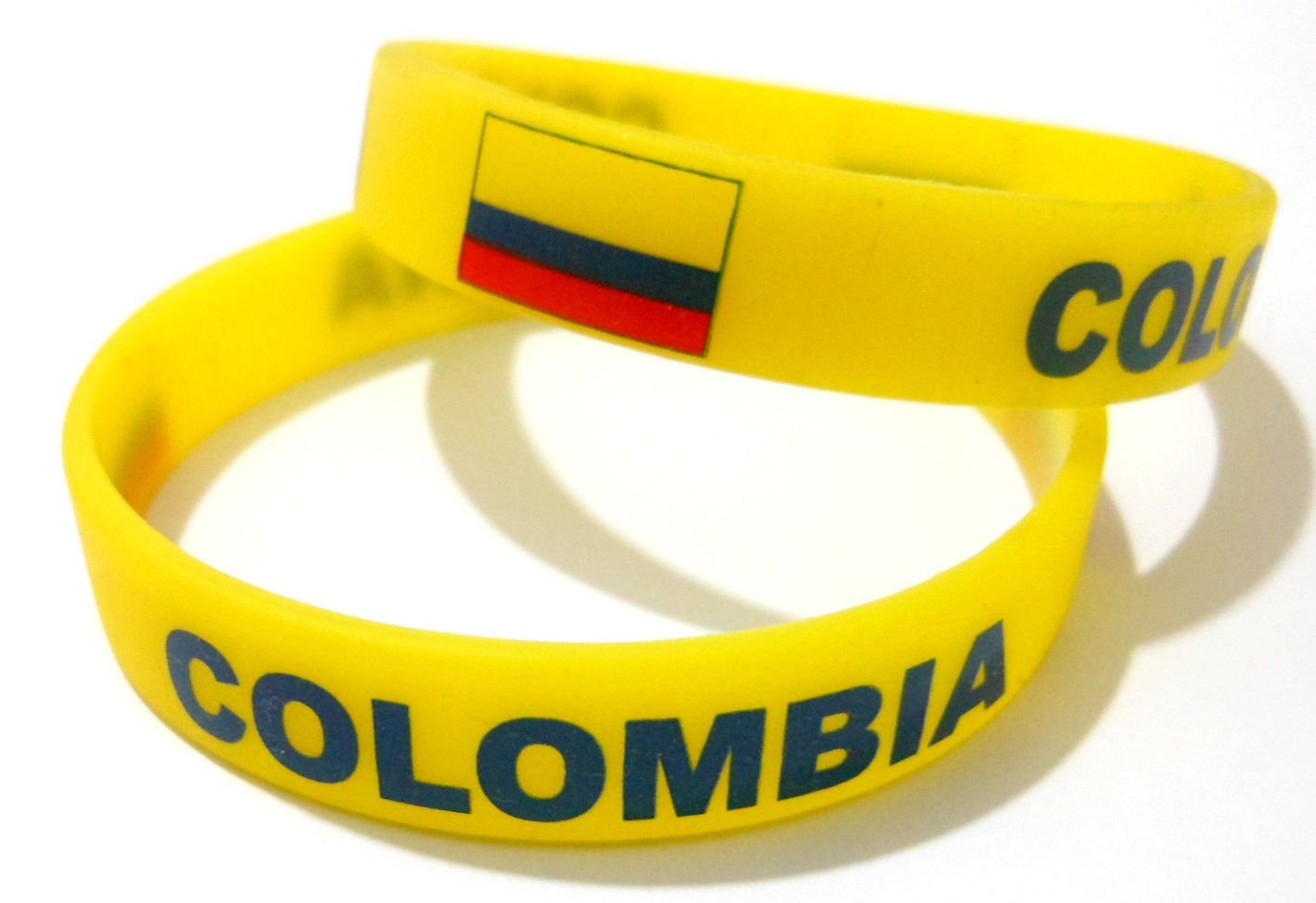 Colombia Country Flag Silicone Rubber Bracelet Sport Unisex Fashion Multi Color Wristband