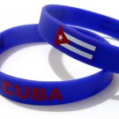 Cuba Country Flag Silicone Rubber Bracelet Sport Unisex Fashion Multi Color Wristband