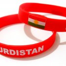 Kurdistan Country Flag Silicone Rubber Bracelet Sport Unisex Fashion Multi Color Wristband