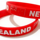 New Zealand Country Flag Silicone Rubber Bracelet Sport Unisex Fashion Multi Color Wristband