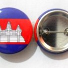 Cambodia National Country Flag Button Badge Lapel Pin Tin Plate 30 mm Diameter
