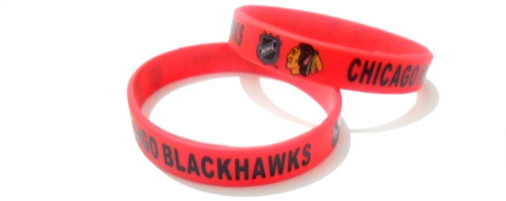 Chicago Blackhawks Nhl Hockey Team Silicone Rubber Bracelet Sport