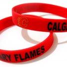 Calgary Flames NHL Hockey Team Silicone Rubber Bracelet Sport Unisex Fashion Wristband
