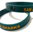 San Jose Sharks NHL Hockey Team Silicone Rubber Bracelet Sport Unisex Fashion Wristband