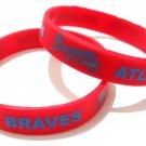 Atlanta Braves MLB Baseball Team Silicone Rubber Bracelet Sport Unisex Fashion Wristband