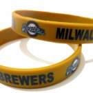 Milwaukee Brewers MLB Baseball Team Silicone Rubber Bracelet Sport Unisex Fashion Wristband