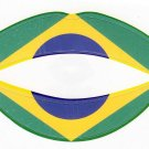 Brazil Lipstick Flag Temporary Tattoos Water Transfer Tattoo Stickers Party Favors