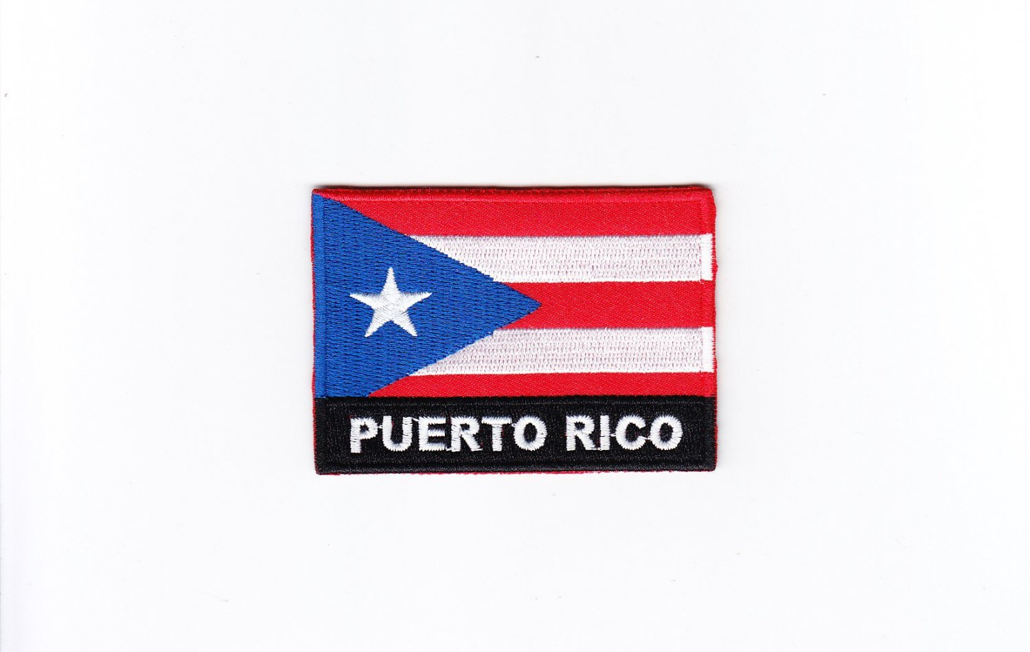 Purto Rico MultiColor Country Flag Logo Embroidered Iron On Backing Heat Seal Patch