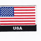 USA United States MultiColor Country Flag Logo Embroidered Iron On Backing Heat Seal Patch