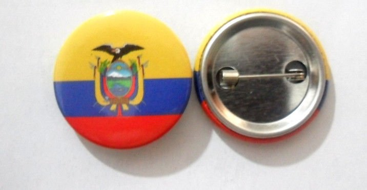 Equador National Country Flag Button Badge Lapel Pin Tin Plate 30 mm Diameter