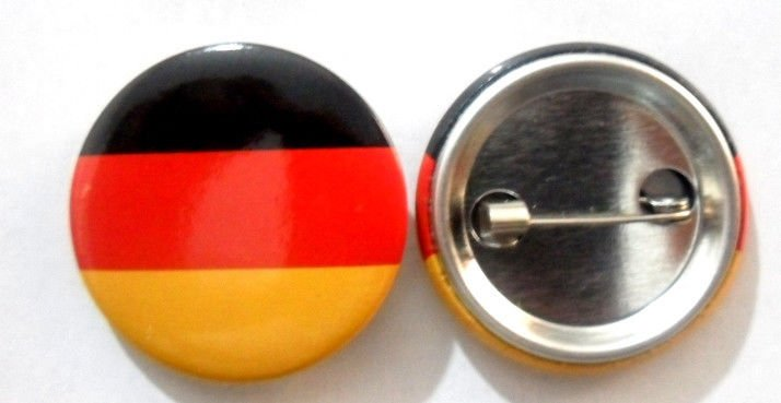 Germany National Country Flag Button Badge Lapel Pin Tin Plate 30 mm Diameter