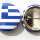 Greece National Country Flag Button Badge Lapel Pin Tin Plate 30 mm Diameter