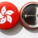 Hong Kong National Country Flag Button Badge Lapel Pin Tin Plate 30 mm Diameter