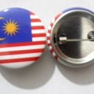 Malaysia National Country Flag Button Badge Lapel Pin Tin Plate 30 mm Diameter