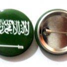 KSA Saudi Arabia National Country Flag Button Badge Lapel Pin Tin Plate 30 mm Diameter
