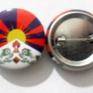 Tibet National Country Flag Button Badge Lapel Pin Tin Plate 30 mm Diameter