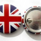 United Kingdom National Country Flag Button Badge Lapel Pin Tin Plate 30 mm Diameter