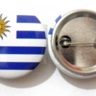 Uruguay National Country Flag Button Badge Lapel Pin Tin Plate 30 mm Diameter