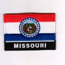Missouri USA State MultiColor Flag Logo Embroidered Iron On Backing Heat Seal Patch