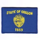 Oregon USA State MultiColor Flag Logo Embroidered Iron On Backing Heat Seal Patch