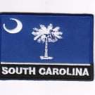 South Carolina USA State MultiColor Flag Logo Embroidered Iron On Backing Heat Seal Patch