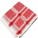 Unisex Red Arabian Scarf Wrap Traditional Desert Tactical Shemagh Shawl Cotton Keffieh Hatta