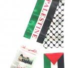 Palestine Flag Unisex Neck Fashion Arabian Scarf Desert Shawl Shemagh Palestinian Wrap